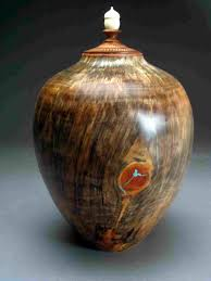 burial urns handcrafted turned wood urns for sale rogers woodturner