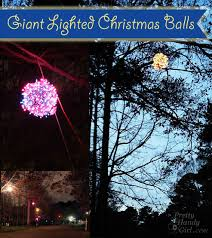 how to make lighted ornament balls pretty handy
