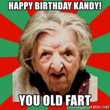 happy birthday kandy you old fart crazy old lady meme generator
