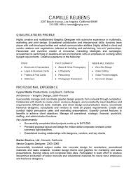 Resume Text Example Graphic Design Careerperfect Com