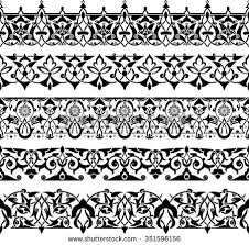 vector illustration ornamental border circle cover stock vector