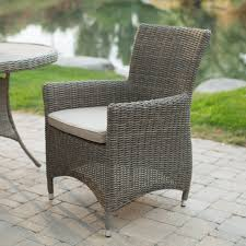 6 Seat Patio Dining Set Grey Wicker Patio Table Home Outdoor Decoration