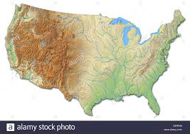 A Map Of United States Shaded Relief Maps Of The United States Large Detailed Shaded