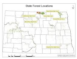 Nd Map State Forests U2014 North Dakota Forest Service