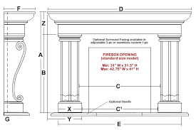 Standard Fireplace Dimensions by Acton Classic Stone Fireplace Mantel Mantelsdirect Com