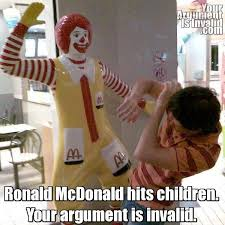 Ronald Meme - image 7509 your argument is invalid know your meme