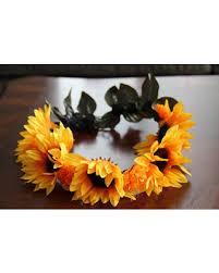 sunflower headband spectacular deal on sunflower chaplet flower crown sunflower