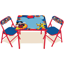 Folding Childrens Table And Chairs Disney Mickey Mouse Erasable Activity Table Set Walmart