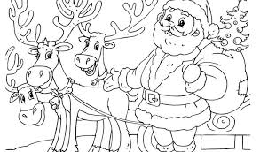 santa claus and his reindeer coloring pages u2014 allmadecine weddings