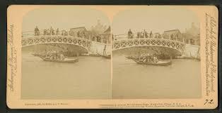 Chicago World S Fair 1893 Map by File Gondolas Passing Under The Wooded Island Bridge World U0027s Fair