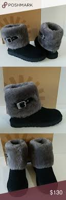 womens ugg boots ellee ugg kristin black suede wedge boots booties black suede wedge