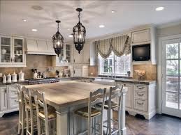 iron kitchen island view full size kitchen features linear crystal chandelier