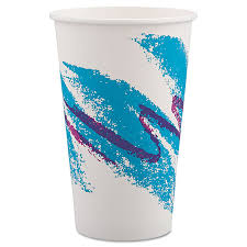 dixie cups cup jazz hot paper cups 16 oz polycoated jazz design