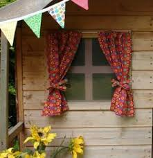 Playhouse Curtains Fabric Covered Table Chairs For The Playhouse Curtains At The