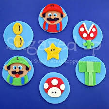 mario cake toppers www sugareduptoppers mario fondant cupcake toppers by sugared up