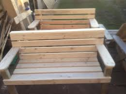 Wood Garden Bench Plans by Pallet Wood And Cable Spool Garden Bench