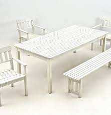 Ikea Outdoor Table by Ikea Outdoor Furniture Set In White Ebth