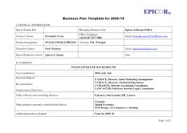Project Plan Outline Template Free business plan full