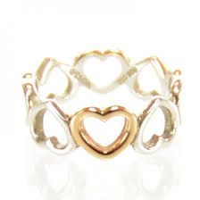 heart rings tiffany images Tiffany co sterling silver 18k rose gold hearts ring 7 35746 jpg