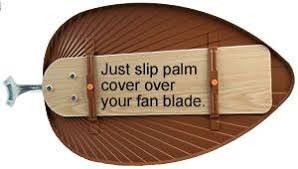 ceiling fan palm blade covers best decorative ceiling fan blade covers great gift ideas