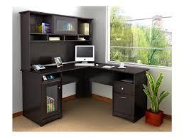 Corner Furniture Ideas Decorating Black Wooden Corner Desk With Hutch With Single Drawer