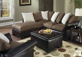 Suede Sectional Sofas Sectional Brown Suede Sectional Couch Chocolate Brown Suede
