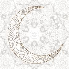 ramadan kareem half moon design background greeting design