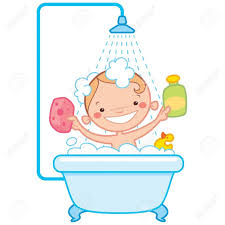 bathroom clipart child bathing pencil and in color bathroom
