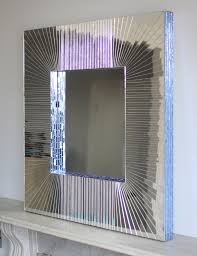 deep ray 80cm square mirror by claire nayman