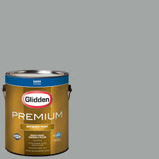 glidden premium 1 gal satin latex exterior paint gl6911 01 the