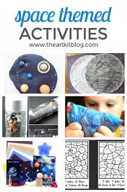 10 space themed crafts and activities for kids that are out of