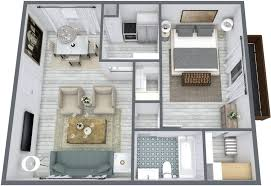 visualizing a renovation with 3d floor plans blue sketch