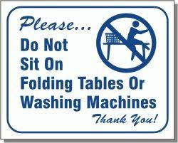 Commercial Laundry Folding Table Laundry Signs And Stickers Commercial Laundry Supplies