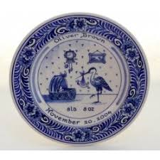 birth plates blue birth plates and tiles delftpottery de delftse pauw webshop