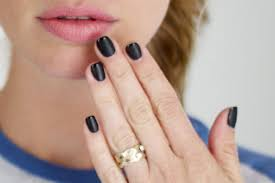 tutorial textured black french manicure u2013 ramshackle glam