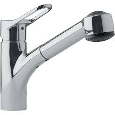 franke kitchen faucet shop franke mambo satin nickel 1 handle pull out kitchen faucet at