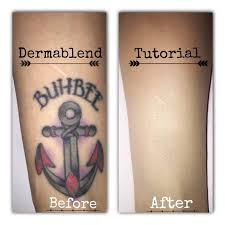 tattoo camo before and after dermablend tattoo cover up tutorial youtube