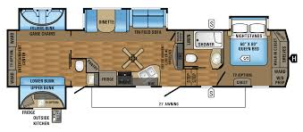 bunkhouse fifth wheel floor plans 2017 eagle fifth wheel floorplans prices jayco inc