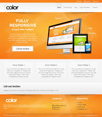 wcolor wordpress free responsive business theme free theme