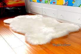 new plush sheepskin rug luxury white brown black faux fur rug
