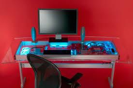 bureau ordinateur intégré intégration d un pc watercoolé dans un bureau
