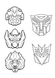 coloriages de dessins animés transformers page 3