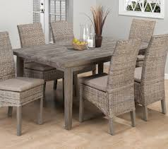 driftwood dining room table burnt grey driftwood dining table with 6 rattan chairs my rooms