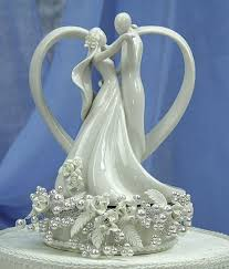 porcelain wedding cake toppers vintage pearl and heart wedding cake topper wedding