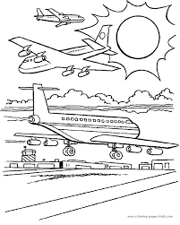 airplane coloring coloring pages kids transportation