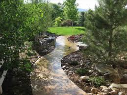 landscape design pathways backyard landscaping fence