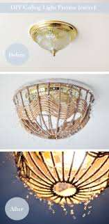 Ceiling Light Fixture Cover Diy Rope Pendant L How To Disguise And Ceiling