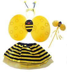 free shipping halloween child kids cosplay costume bee butterfly
