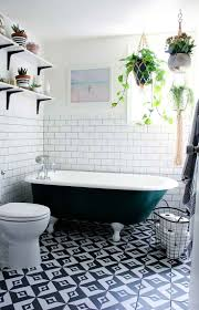 vintage black and white bathroom white wall mounted sink fresh red