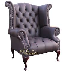 Purple Chair Uk Chesterfield Buttoned Queen Anne High Back Wing Chair Uk